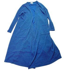 LuLaRoe Sarah Long Cardigan Sweater Layers Striped